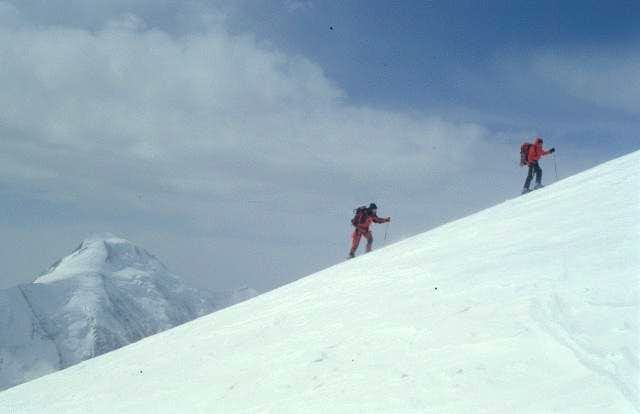 ski ascent - near south summit