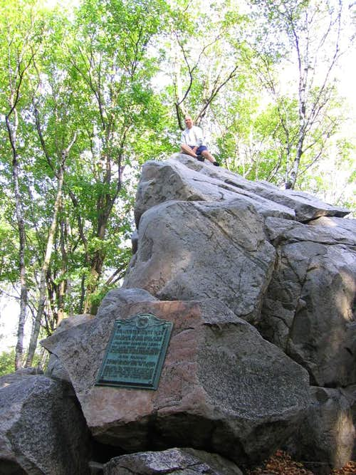 Rib Mountain summit block