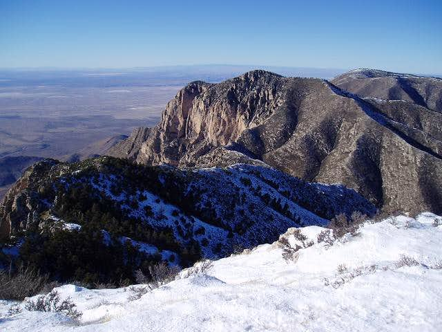 Wintry ridge from Guadalupe to Shumard