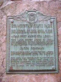 Rib Mountain summit plaque