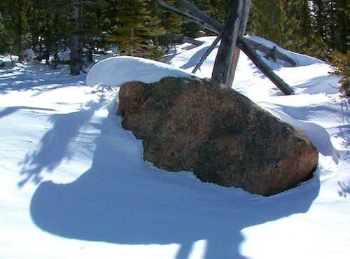 Corniced Boulder
