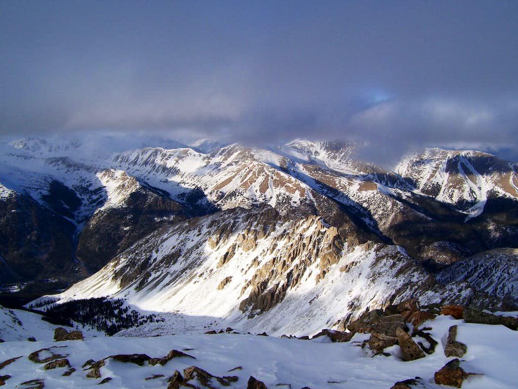 Mount Elbert from La Plata