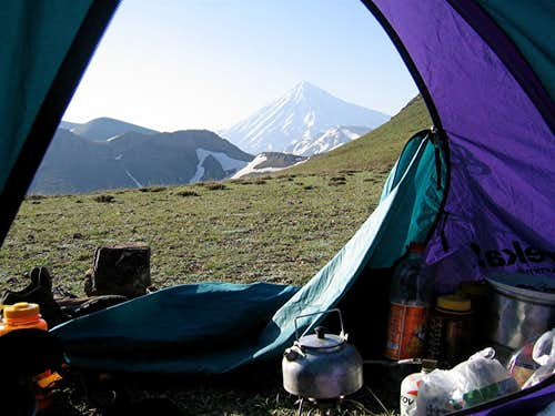 Damavand from our tent