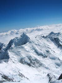 Mt. Tasman from the summit of Mt. Cook