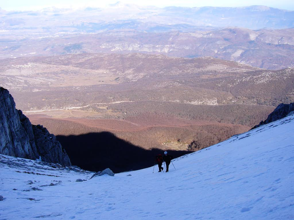 Monte Sirente, N-side