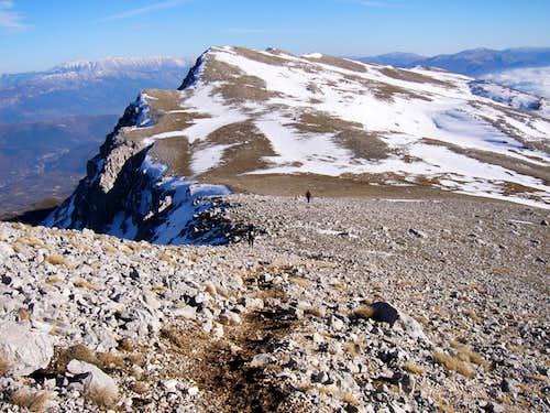 Descending from Monte Sirente
