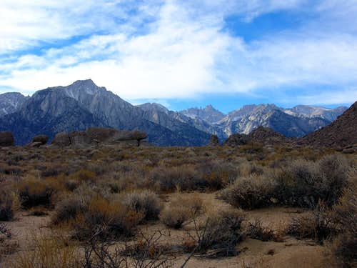 Lone Pine Peak and Whitney