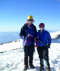 On the summit of Mt. Rainier