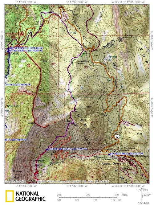 Timpanogos Loop Map