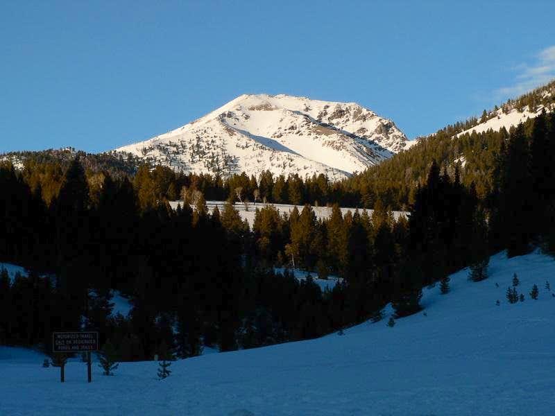 Galena Peak in the Evening