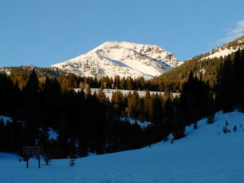 Galena Peak in the Evening
