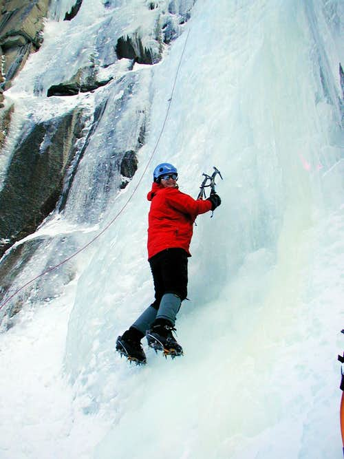 Ice bouldering at LVC