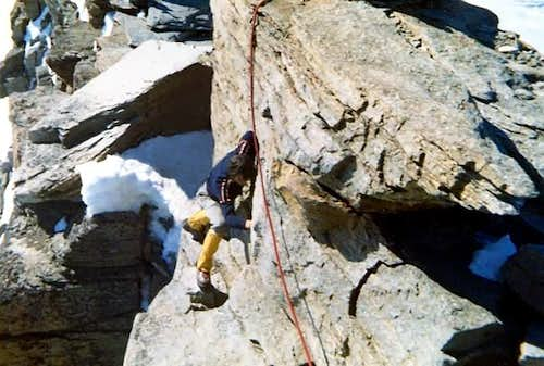 I was approaching the last step before the summit of Gran Paradiso