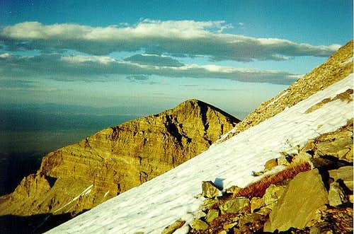 A view of Wheeler Peak's...