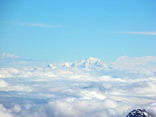 Mont Blanc over the clouds