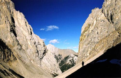 Descending Cory Pass