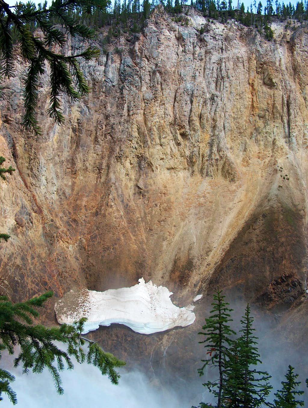 Snow Ledge above Yellowstone Falls