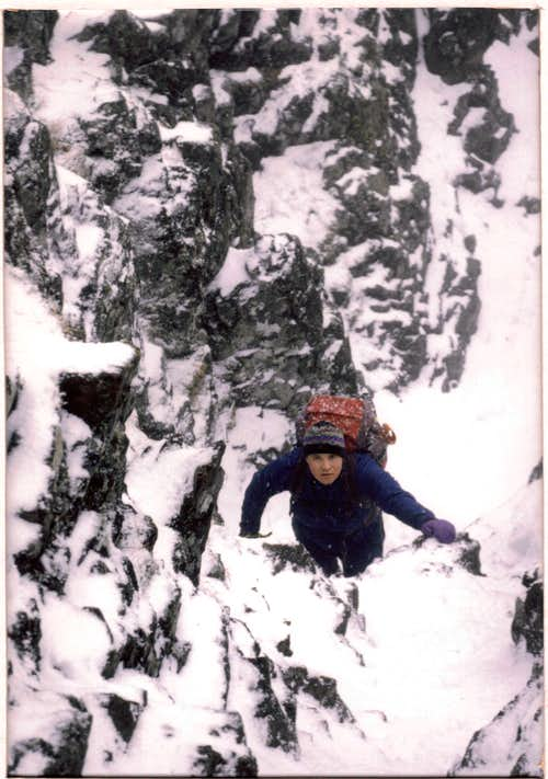 Winter solo, Aonach Eagach