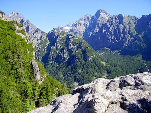 view from Slavkovska vyhliadka