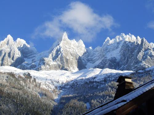 veiw from chamonix valley