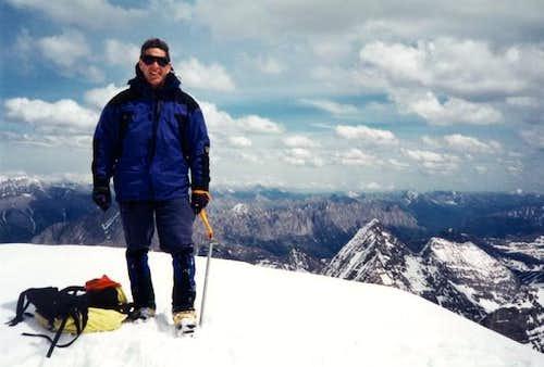 J. D. Miller on the summit...