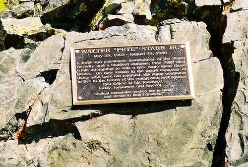 The Pete Starr Memorial...