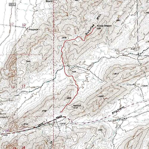 Topo Map of our route