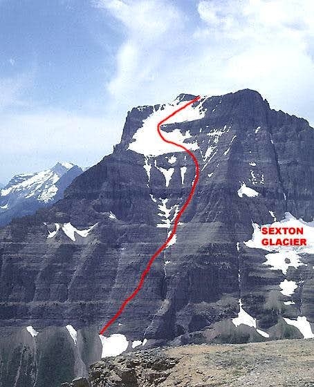 East Face Route Going-to-the-Sun Mountain