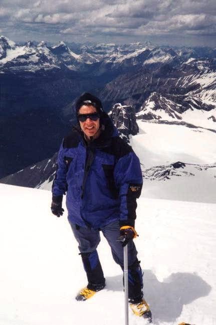 J.D. Miller on the summit...