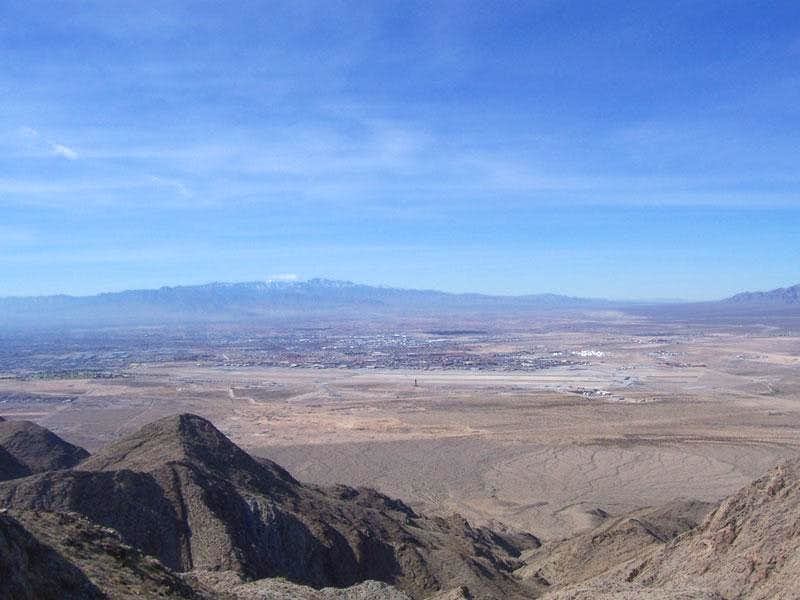 A view of Mt. Charleston from the summit