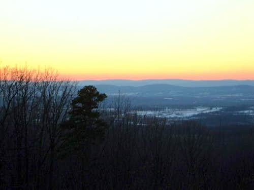 Sunset view from the summit