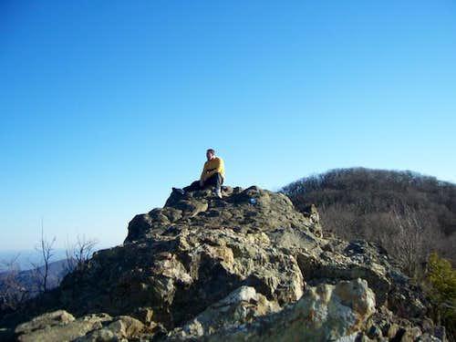 Sitting atop Bearfence Rocks