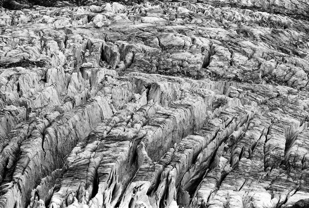 Gigantic crevasses