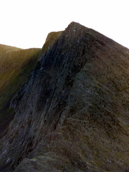 The Great cliff of Lliwedd