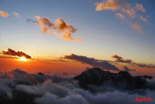 Sunset from Camp Alaska