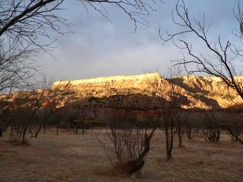 Fortress Cliff at sunset