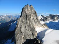 Snowpatch from Bugaboo Kain Route rappel
