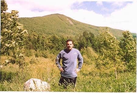 Brian with Greylock behind him