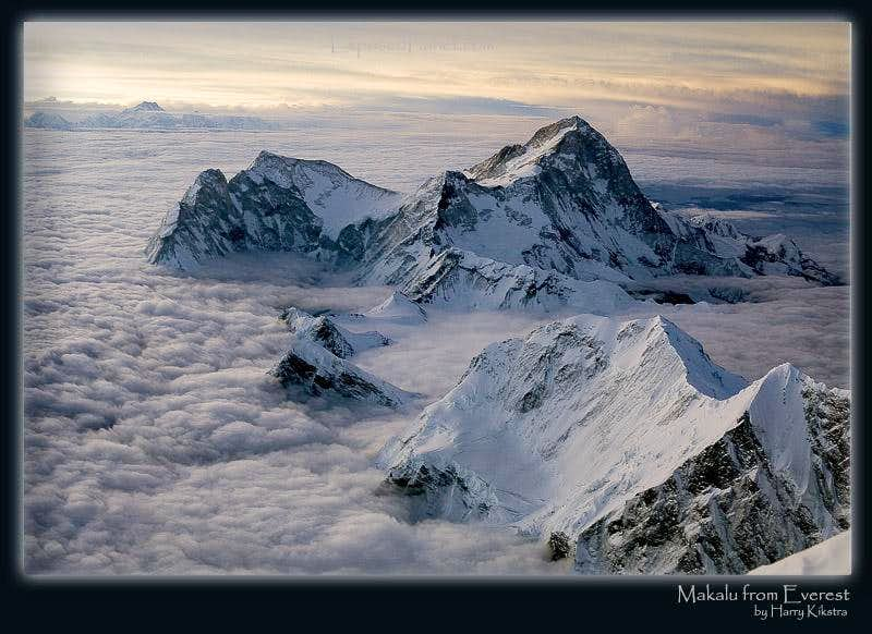 Makalu as seen from 3rd Step on Everest