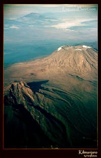 Kilimanjaro from the air, 2003