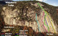 Route overview for The Slabs...