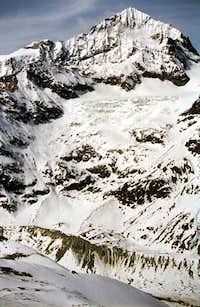 Dent Blanche during winter as seen from Hornli Hut.