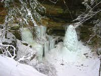 Cantwell Cliffs ice