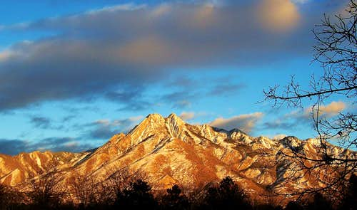 Mount Olympus from Salt Lake City