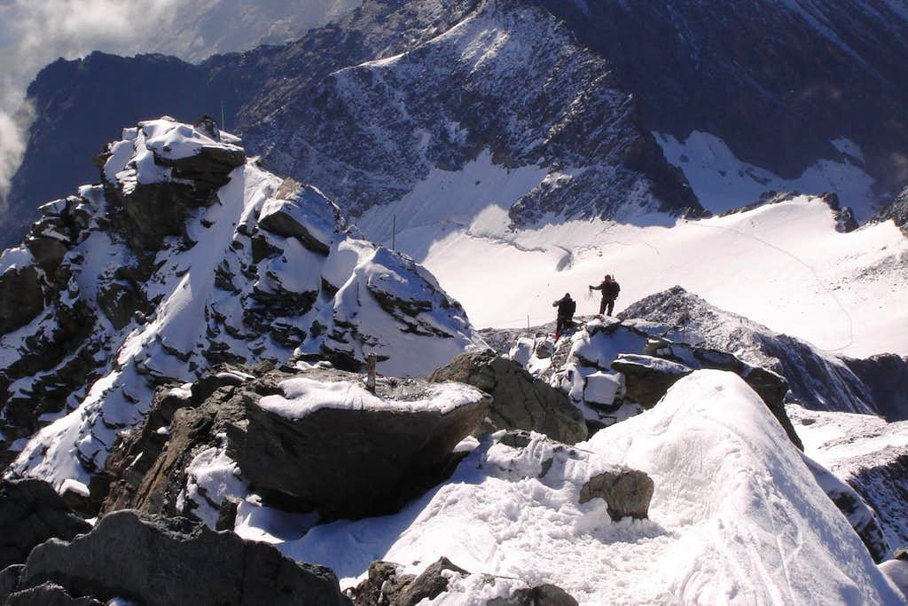 Grossglockner's summit ridge