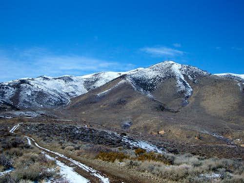 View of the summit ridge