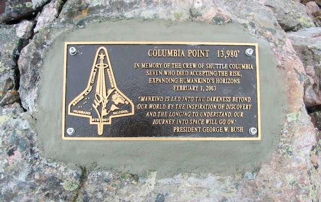 Columbia Point Plaque