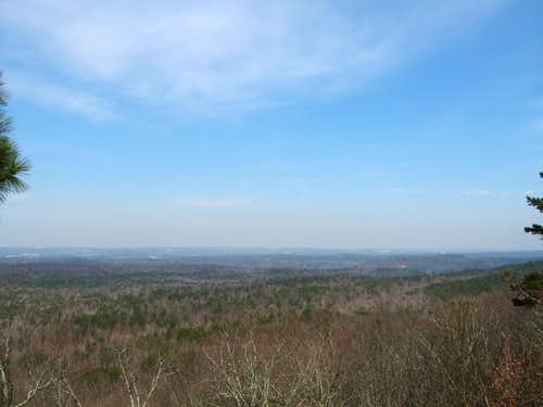 View near the summit of Oak Mountain