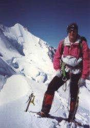 Vito Casiraghi on the summit...
