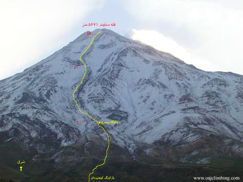 Damavand West Face